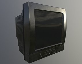 realtime CRT TV Game Ready Asset PBR