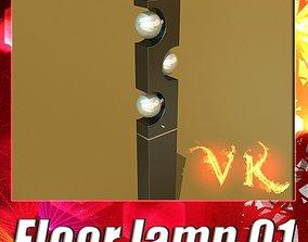 Modern Floor Lamp 01 3D