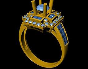 DiamondRing 18K WhiteGold 3D printable model