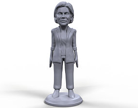 Elizabeth Warren stylized high quality 3D printable