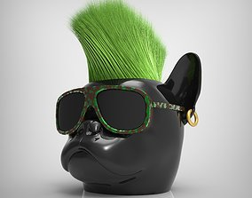 3D print model Bulldog pot Headplanter