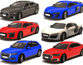 6 Car Audi 3D asset
