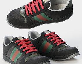 Sneakers Black Screener 3D model