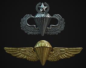 Parachutists Badges 3D asset