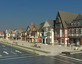 Commercial Shopping Stree 3D