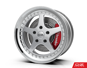 3D model OZ Racing Mito Wheel - Highly detailed