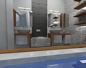 Bathroom 3D model flat
