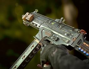 rigged MPK 92 autogun - gameready asset