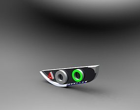 stylish car Headlight 3D