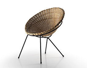 3D Round Wicker Chair