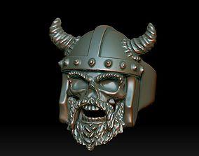 Viking Skull ring 3D print model