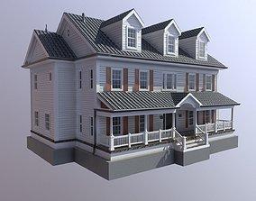 3D asset Modern Suburban House 3