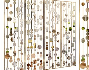 3D model Decorative partition set 33