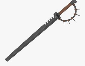 3D model Sword with a spiked handle