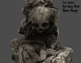 3D model game-ready Skull Rock