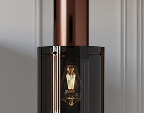 3D model Original BTC WALTER Glass and Opal Pendant Lamp