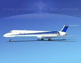 3D model McDonnell Douglas MD-87 Corporate 2
