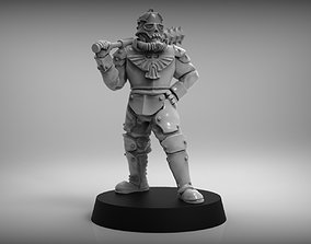 SciFi Trench Fighter - 28mm miniature 3D printable model