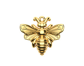 gold Bee Pendant 3D printable model