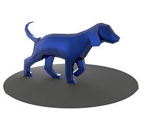 Dog-Low Polygon 3D model