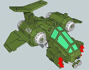 15mm RainClaw Sci-Fi Ground Attack Fighter 3D print model