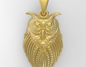 Owl earrings and pendant 3D printable model