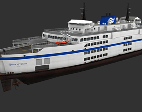 Ferry 3D model realtime