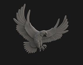 statue 3D print model Eagle