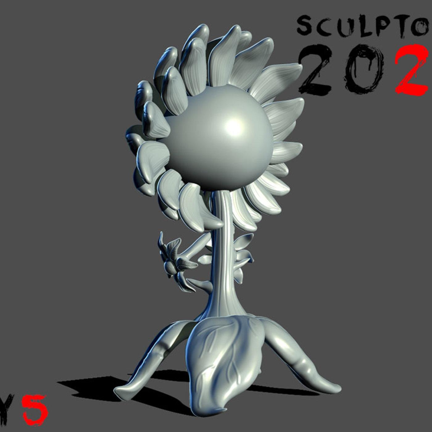 sculptober day 05 sunflower