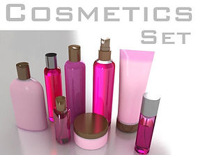3D model Cosmetic Bottles Tube and Flacons