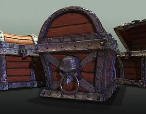 3D model Skeleton Treasure Chest - Game Ready