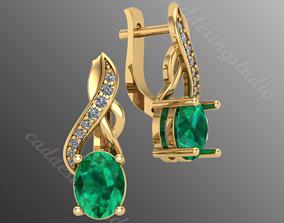 earrings dp3 3D printable model
