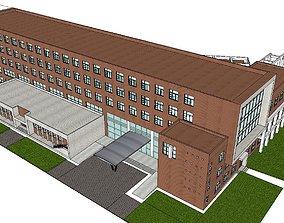 Office-Teaching Building-Canteen 64 3D