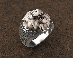 Lion Ring 3D printable model siamese