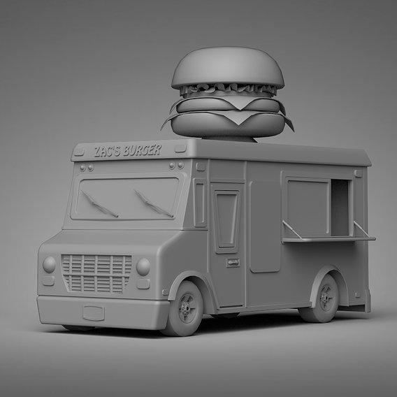 Burger Truck || Low-poly Game Ready Model