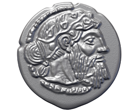 GREEK SILVER DRACHM OF NAXOS treasure 3D printable model