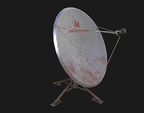 SATELLITE ANTENNA prt2 low-poly 3D model game-ready