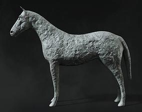 Horse Sculpture 3D model game-ready