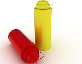 Sauce Bottles 3D