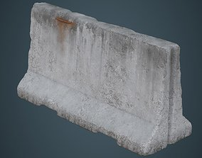 3D asset Concrete Barrier 3C