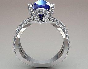 solitary ring women wedding 3D print model
