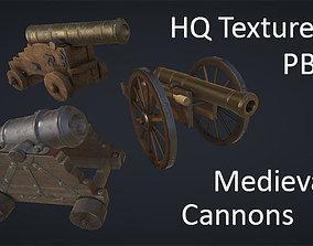 Medieval Cannons PBR Pack 3D asset
