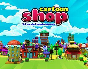 Cartoon Shop 3D asset