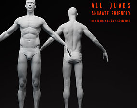 Realistic Male Body 3D body