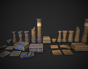 Stylized Ruins pack 3D model
