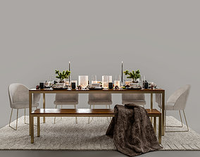 tableware furniture 3D model DINING TABLE