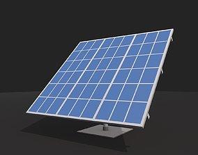 Cartoon Low Poly Solar Panel 3D asset