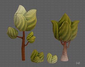3D model Trees Cartoon V08