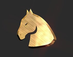 3D printable 2d Horse head decor