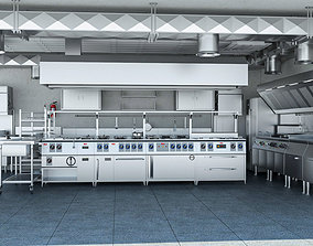 3D Commercial Kitchen 3
